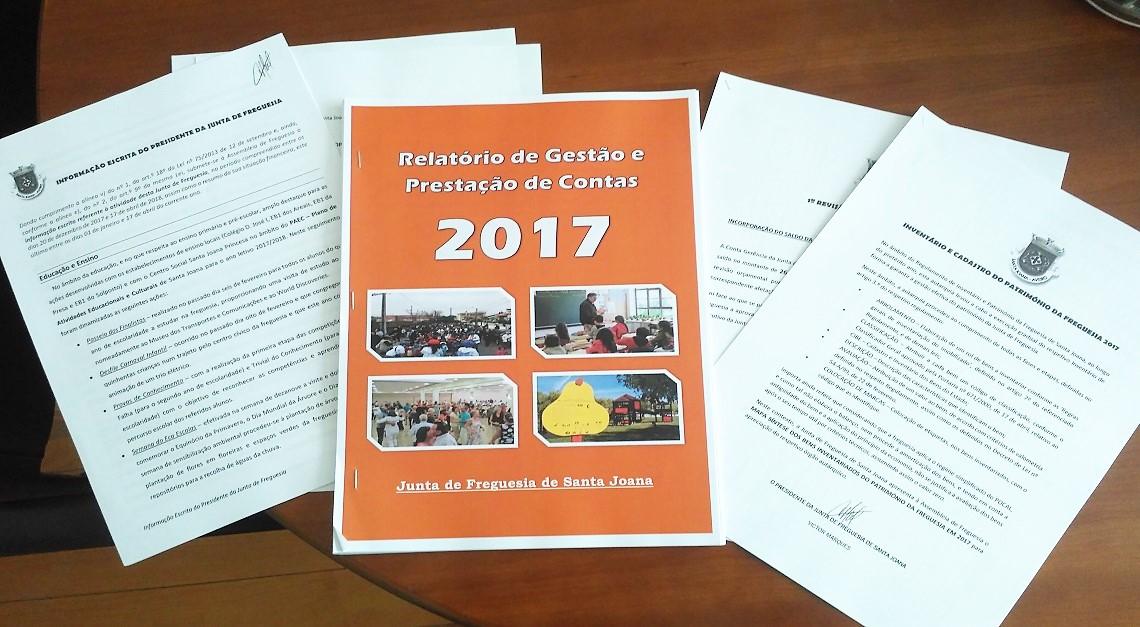 Assembleia de Freguesia aprova o Relatório de Gestão 2017