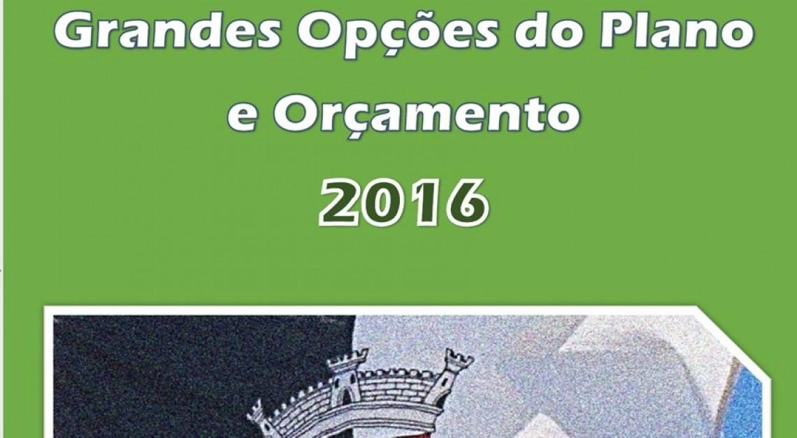 GRANDES OPÇÕES DO PLANO 2016