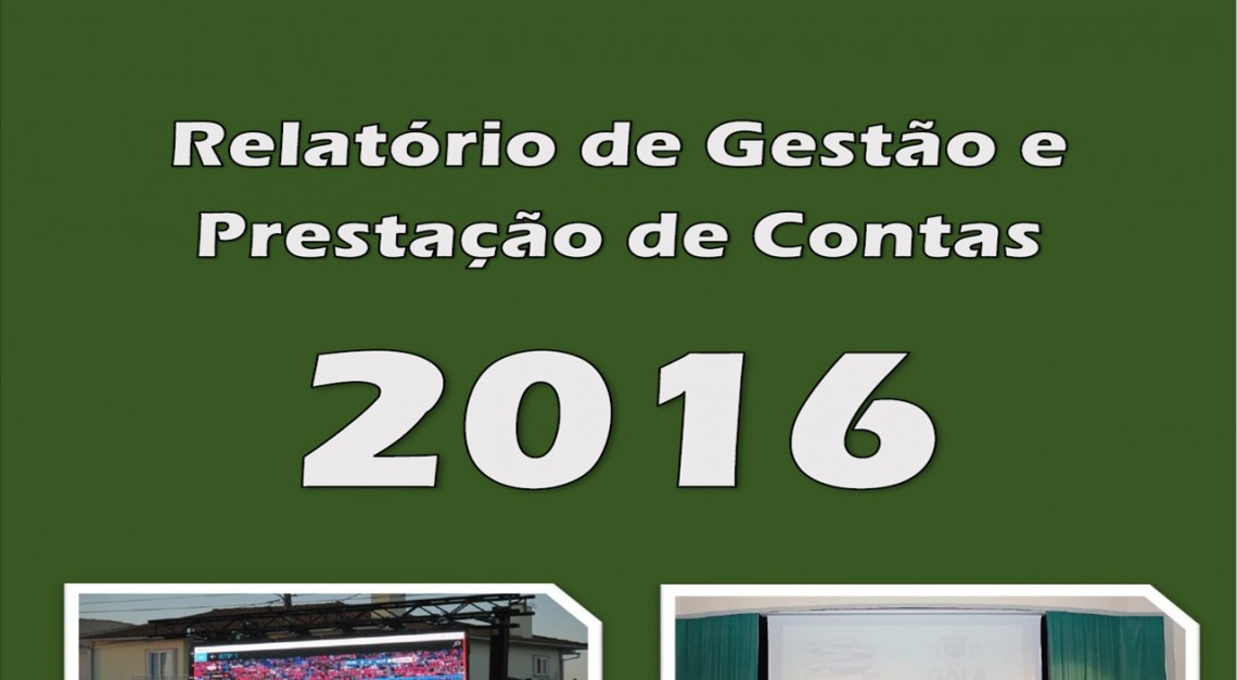 RELATÓRIO DE GESTÃO E CONTAS 2016